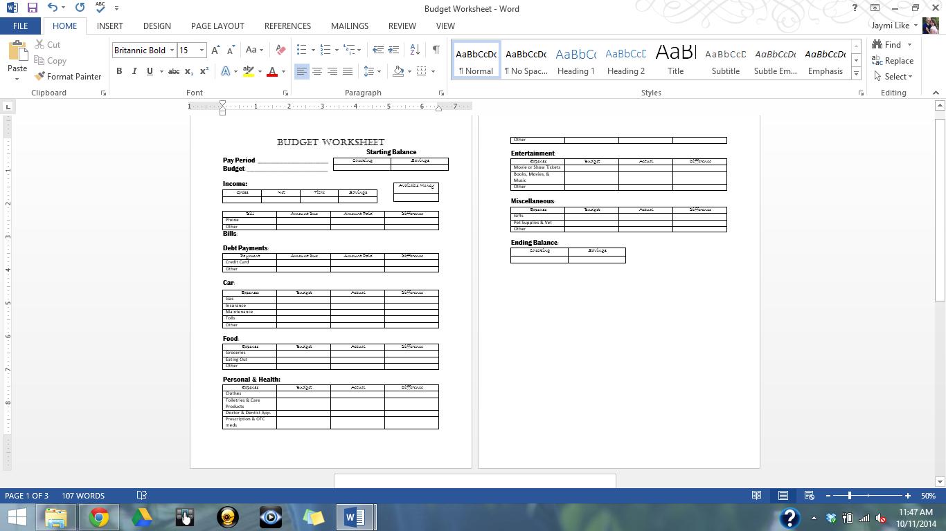 worksheet College Student Budget Worksheet one simple star high schoolcollege student budget worksheet neat worksheet