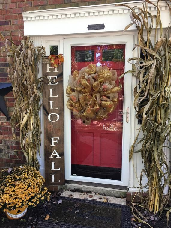 Hello Fall Sign, Fall Sign, Fall Decor, Thanksgiving Sign, Porch Sign, Holiday Porch Sign, Hello Fall Porch Sign, Rustic Porch Sign, wood #hellofall