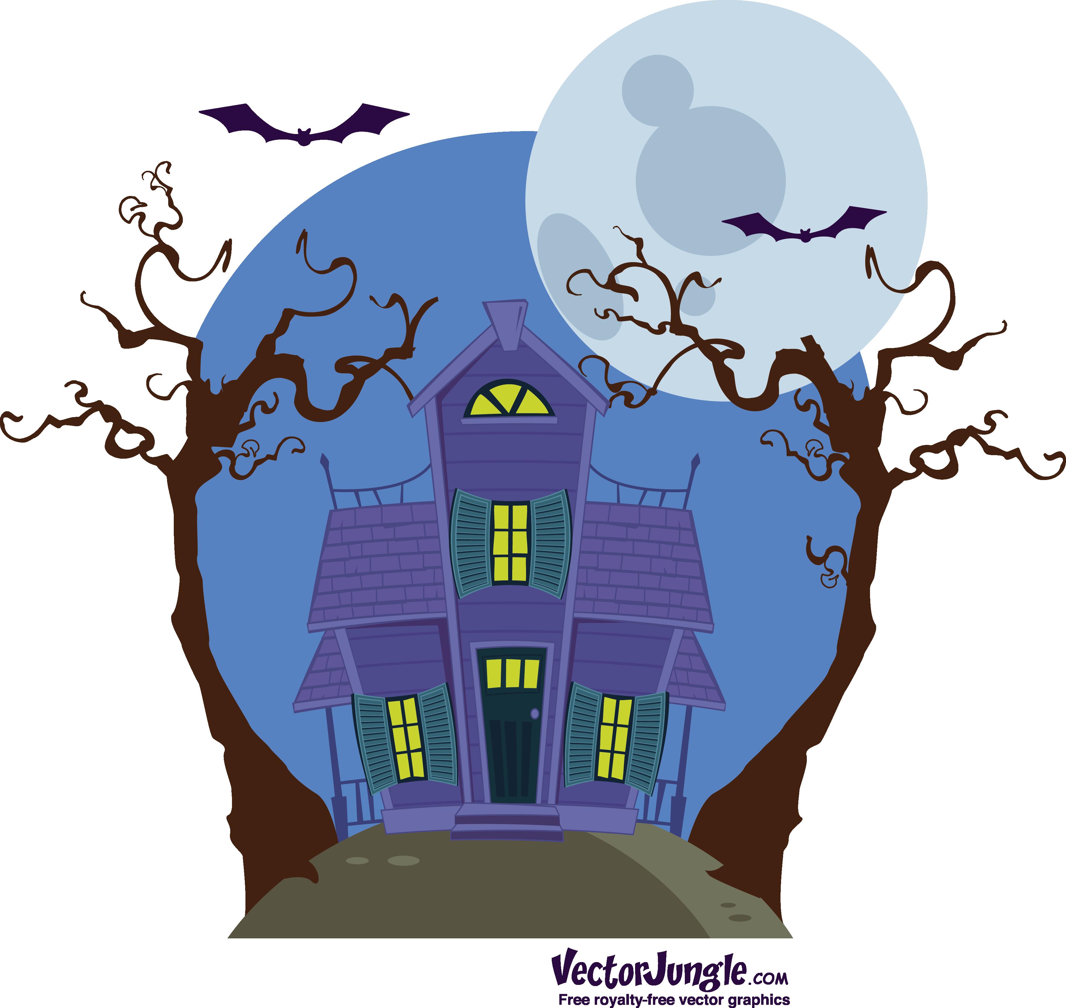 free vector halloween haunted house | vectorjungle - free vector