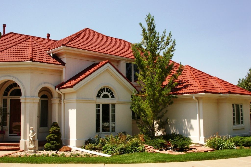 roofing shingles red roof house