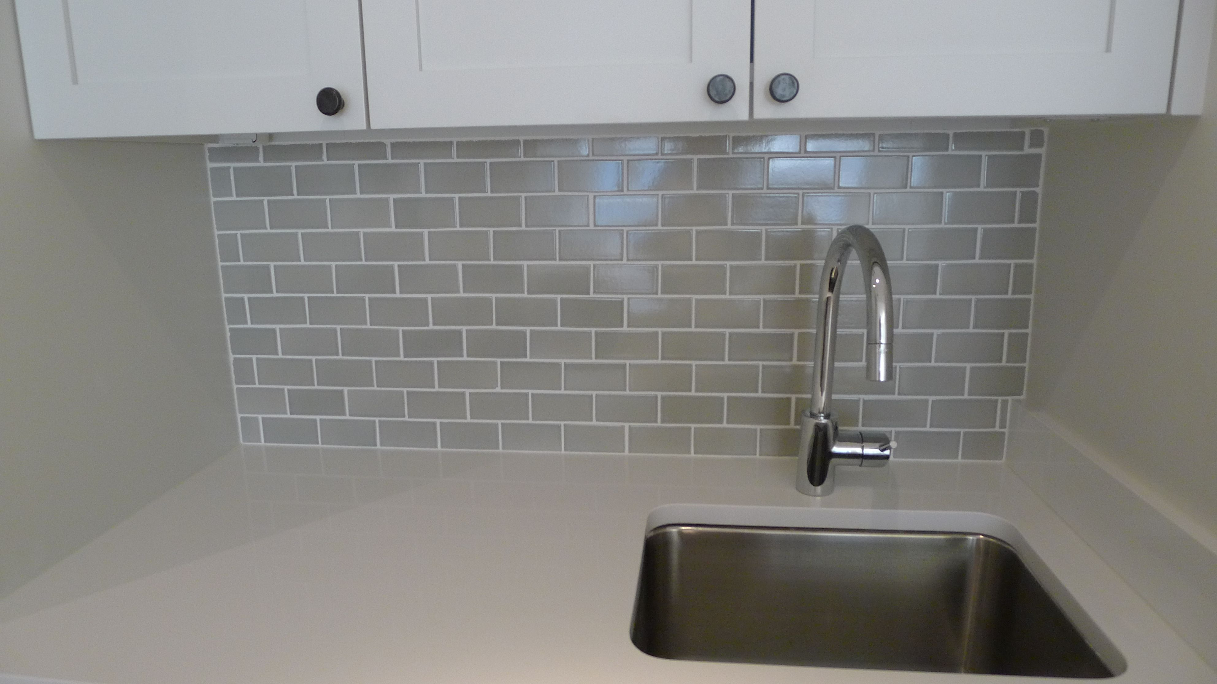 - Ann Sacks 2 X 4 Grey Subway Tile Backsplash #jmorrisdesign