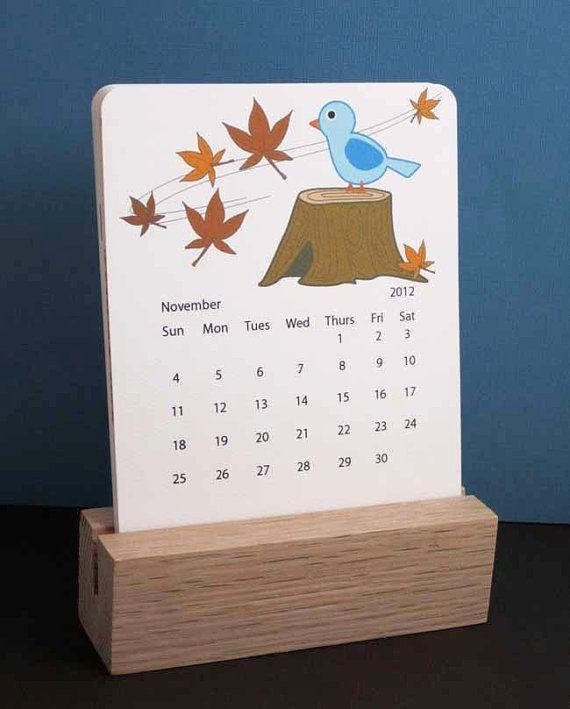 Calendar Wood Stand : Desk calendar calendars pinterest