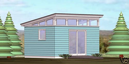 Shed Plans Blueprints 12 Ft X 16 Ft Modern W Front Dr Shed Plans Shed Blueprints Simple Shed