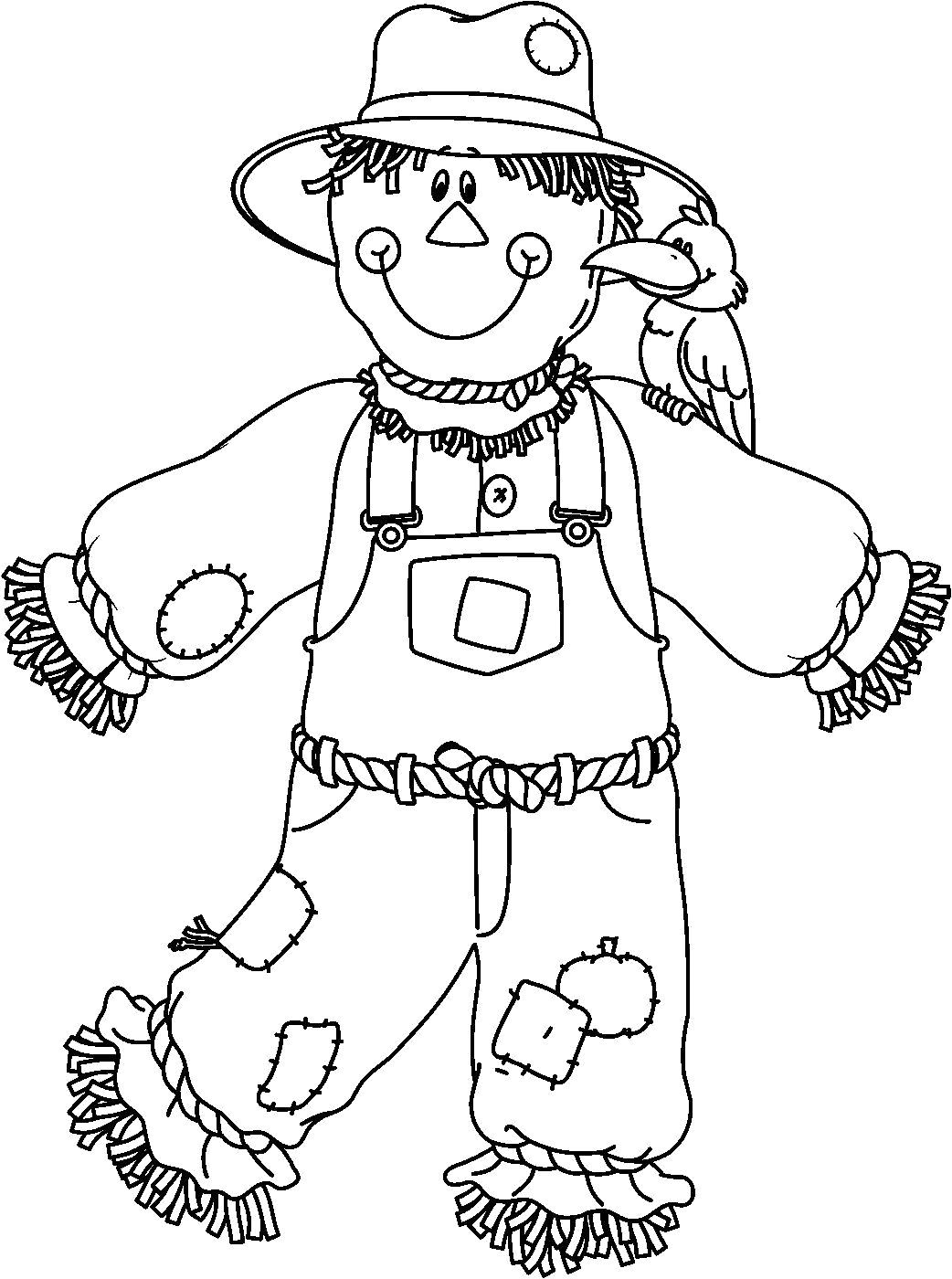22+ Beautiful Image of Scarecrow Coloring Page