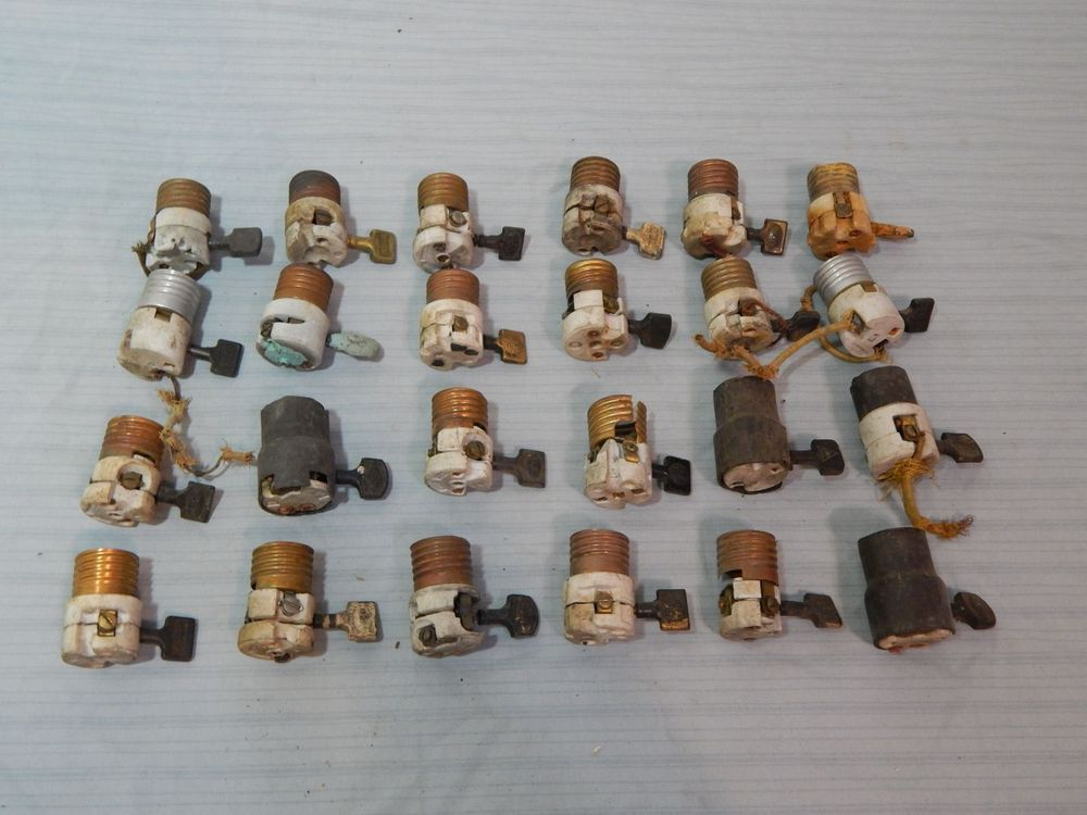 Lot 24 Vintage Paddle Lamp Switch Sockets Fixtures Light | Cool ...