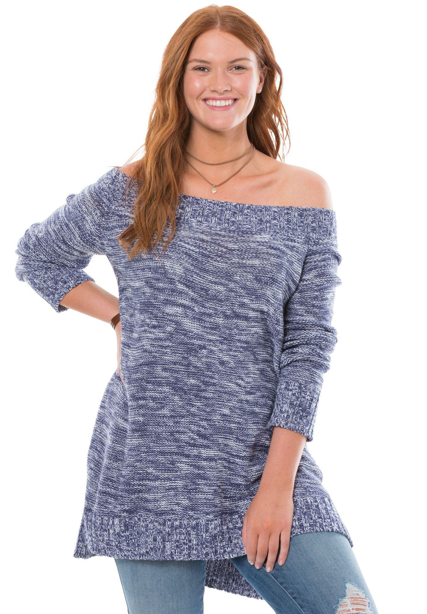 Offtheshoulder sweater chelsea studiouampreg womenus plus size
