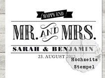Hochzeitsstempel Mr.&Mrs.