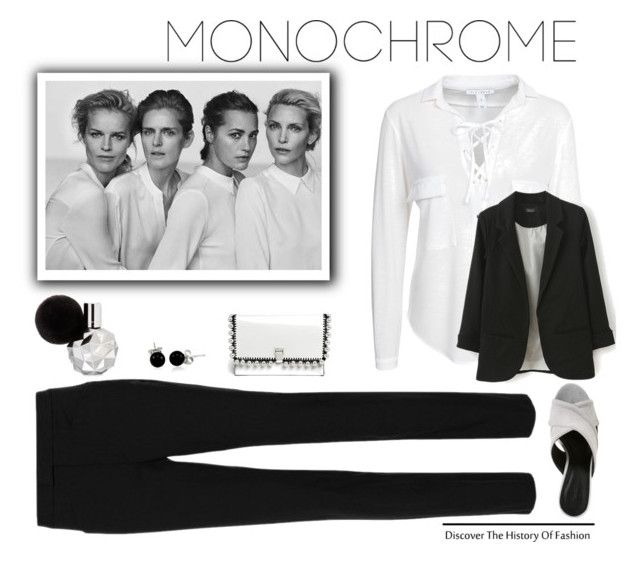 """""""Make It Monochrome'"""" by dianefantasy ❤ liked on Polyvore featuring NLY Trend, rag & bone, Rebecca Minkoff, Proenza Schouler, Bling Jewelry, monochrome and polyvoreeditorial"""