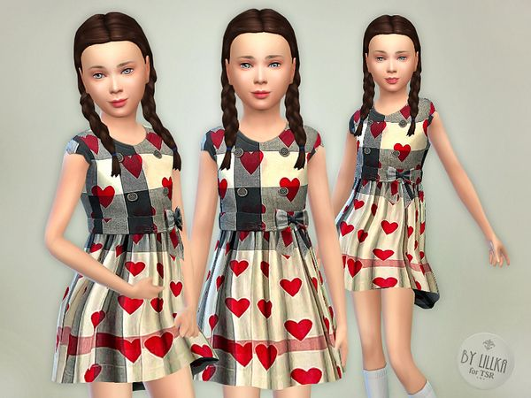 The Sims Resource: Heart Dress by lillka • Sims 4 Downloads
