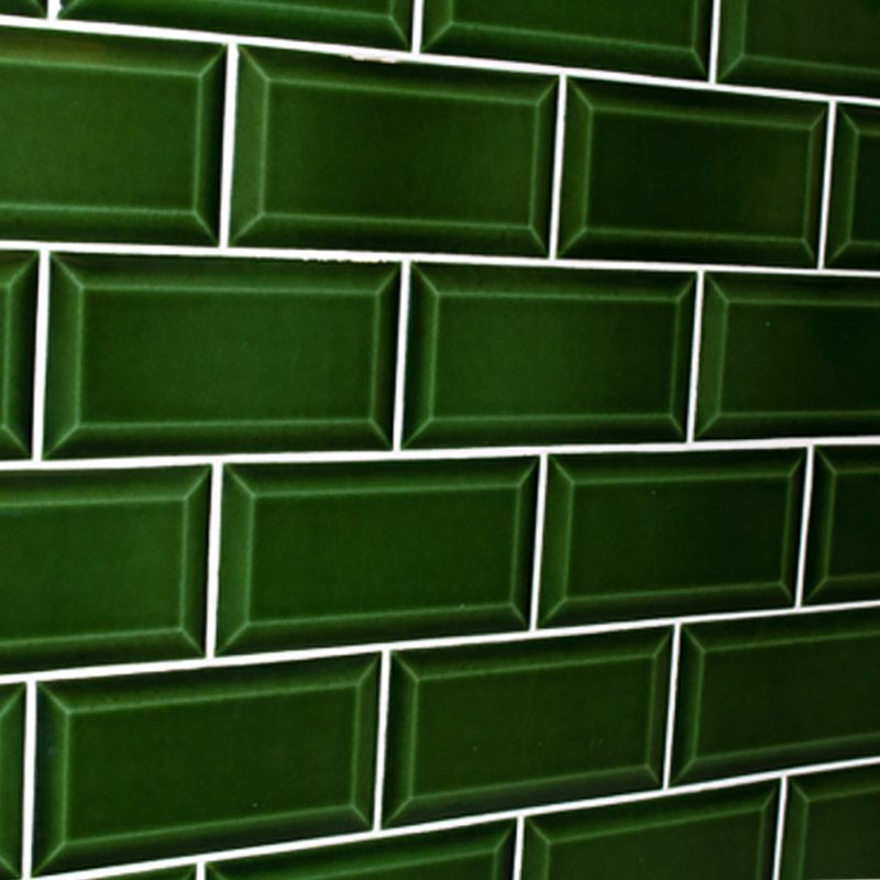 Kitchen Tiles Brick Style bevelled brick verde cristal subway style tiles | colour splash