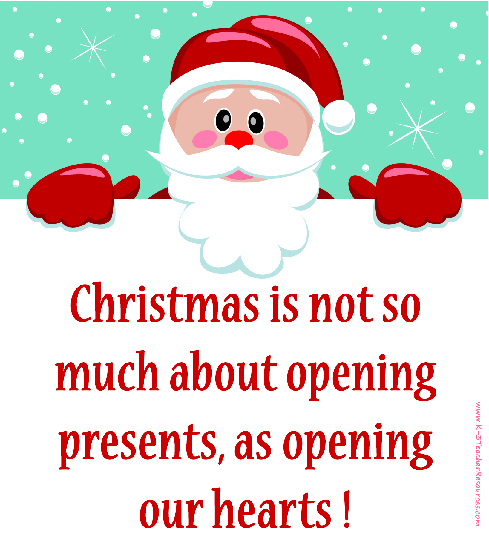 Superior Christmas Picture Quotes | Quotes} Santa Christmas Quote   K 3 Teacher  Resources