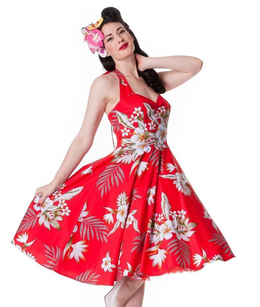 Hell Bunny Alika Hawaiian Tiki Dress Red | Tiki Style | Pinterest