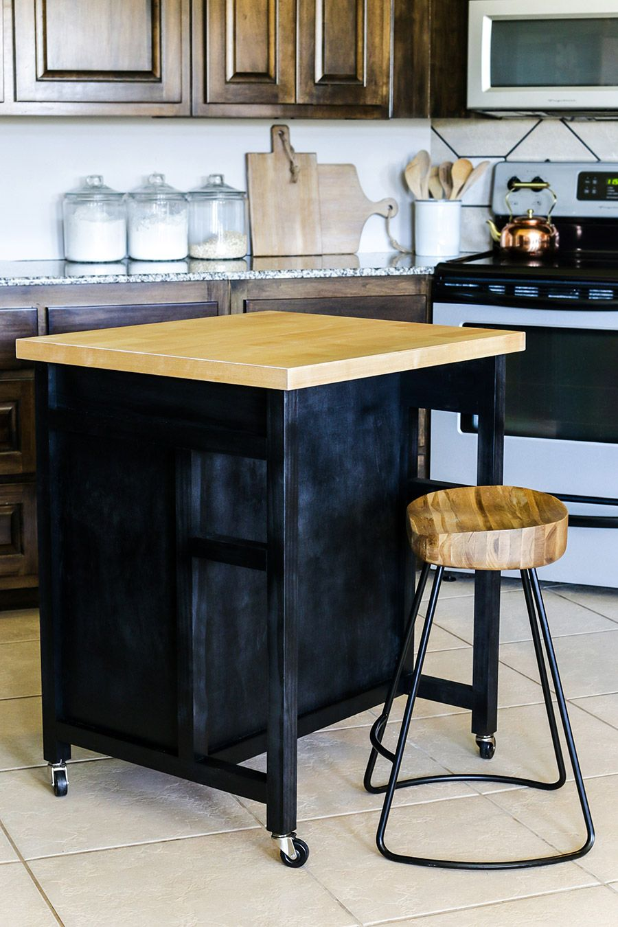 DIY Rolling Kitchen Island | Mesas