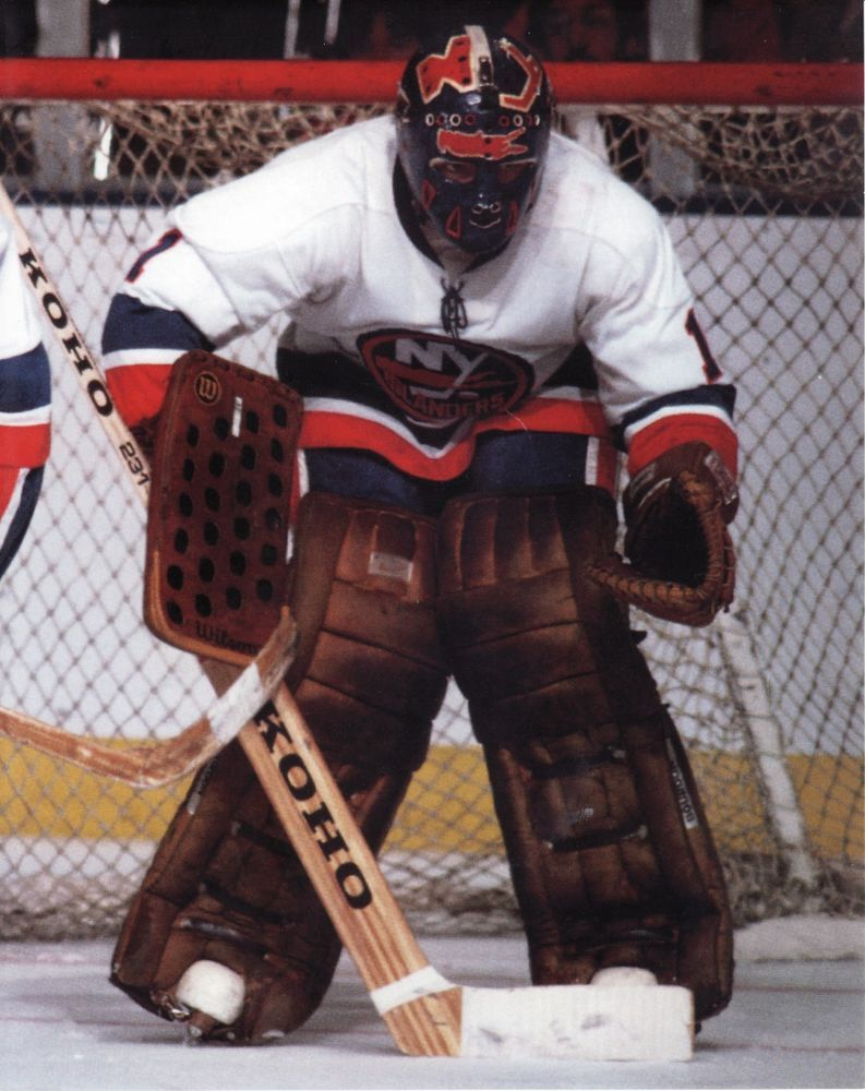 Glen Chico Resch Vintage Islanders Goalie Mask Nhl Hockey 8x10 Photo Goalie Mask Goalie Hockey Goalie