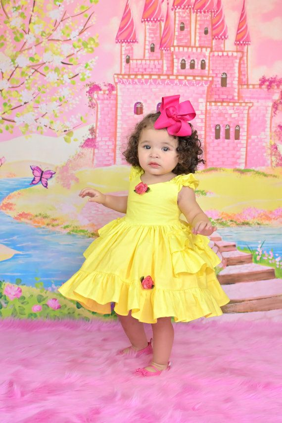 40607836924d Baby Princess Belle Dress with built in pettiskirt