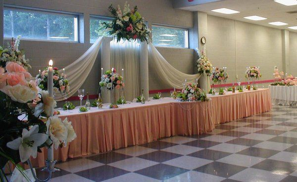 Flowers, Reception, Green, Ceremony, Orange, Bridal, Table