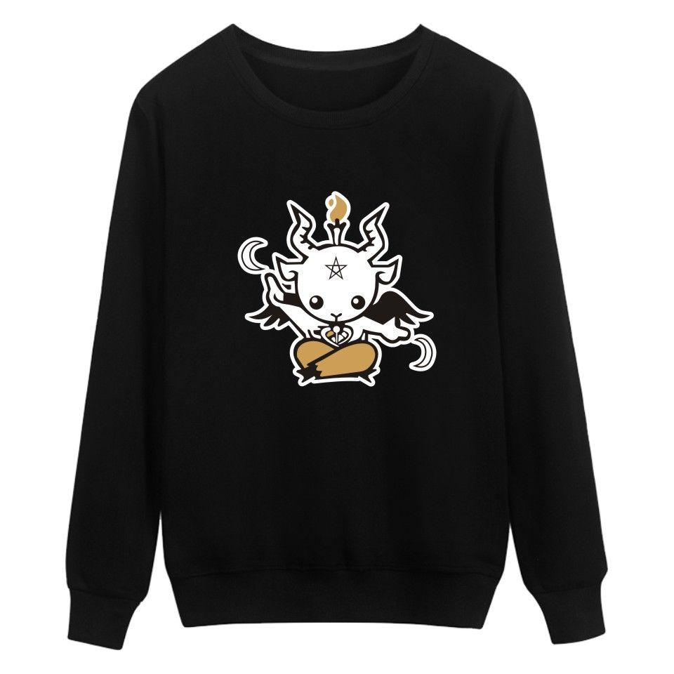 Satan Printing Winter Warm Casual Style Fashion Sweatshirt  And Cool Hoodies Men Brand Designer Mens Sweatshirt With Plus Size