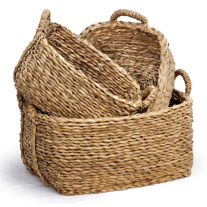 Braided Palm Basket Set- Hand Made Wedding Baskets   Large baskets ...