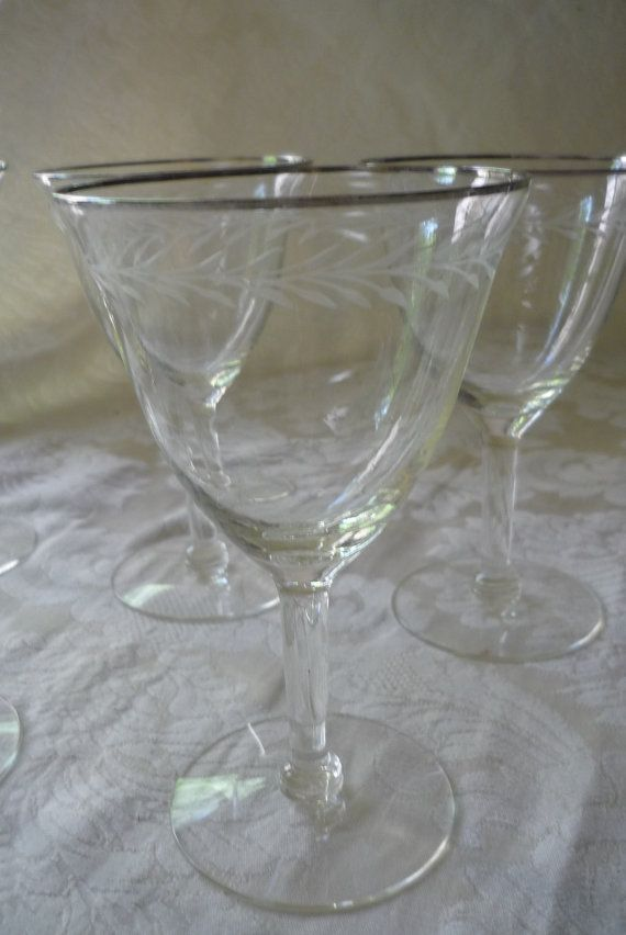 Gorgeous Set of 7 Etched Platinum Trimmed by LindsayJanesCottage, $29.00