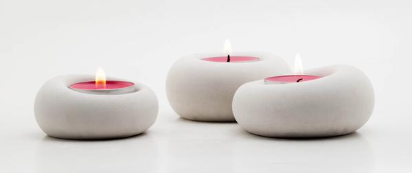 Blub tea light candle holders by .ab concrete design