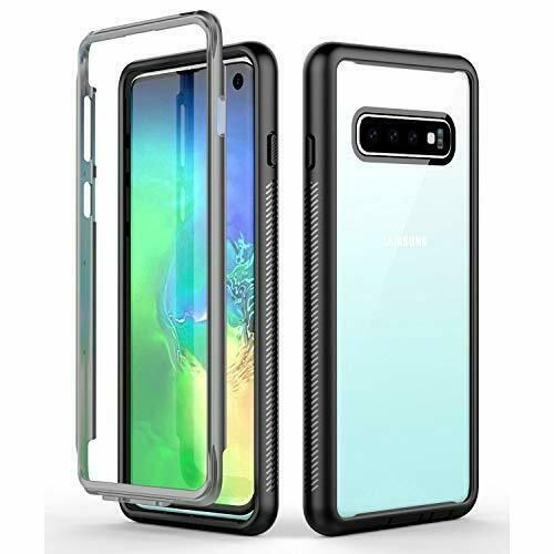 Samsung Galaxy S10 Case Heavy Duty Bumper Armor Shockproof Cover Black/Clear  #ATOP