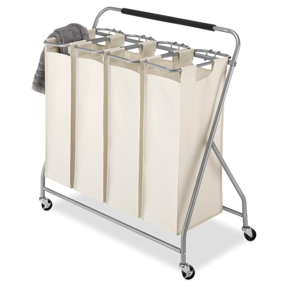 Whitmor Easy Lift 4 Bag Quad Laundry Sorter Laundry Sorter