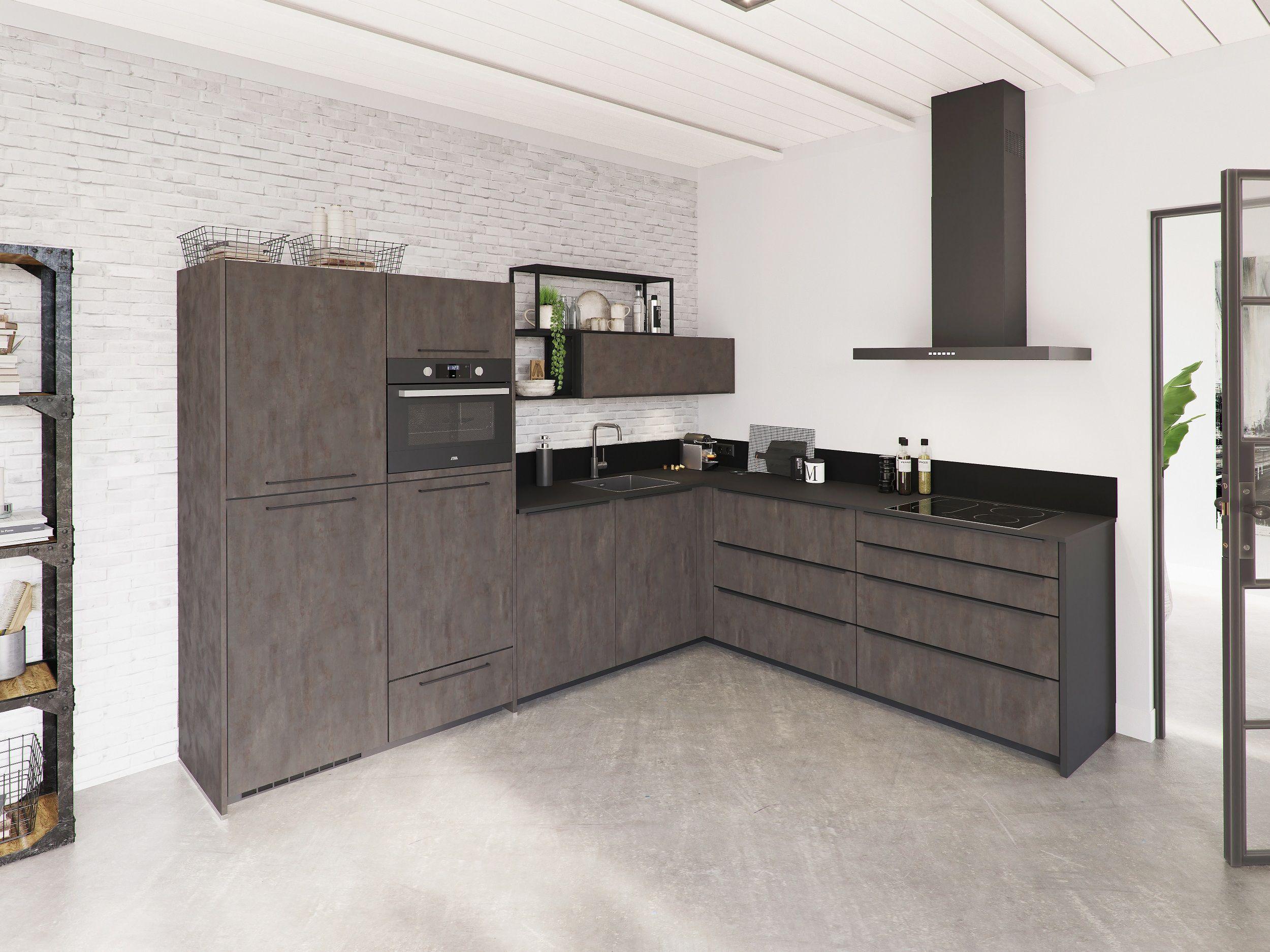 Nieuw in het assortiment een moderne keuken met industriële