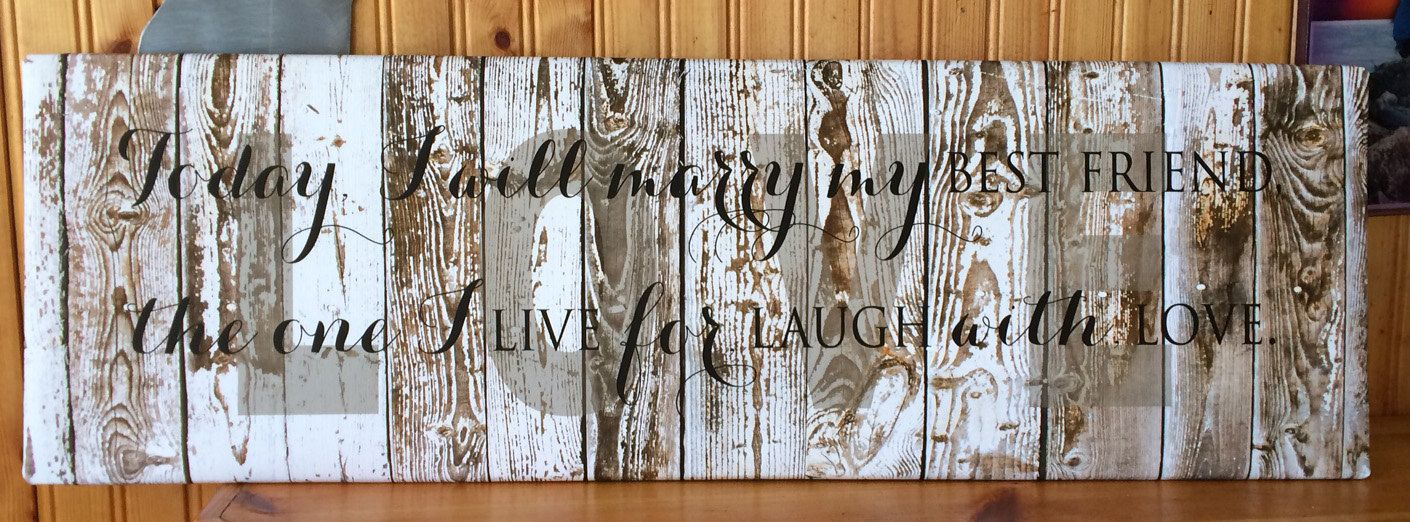 Wedding or Anniversary Gift -Love Forever- Canvas Wall Hanging by HeartlandSigns on Etsy