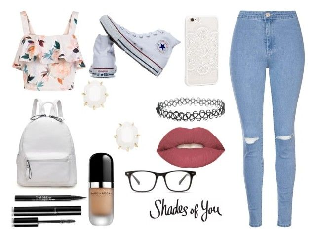 """""""Shades of You"""" by titi-reina on Polyvore featuring moda, New Look, Glamorous, Converse, Kendra Scott, Smashbox, Trish McEvoy, Chanel y Marc Jacobs"""