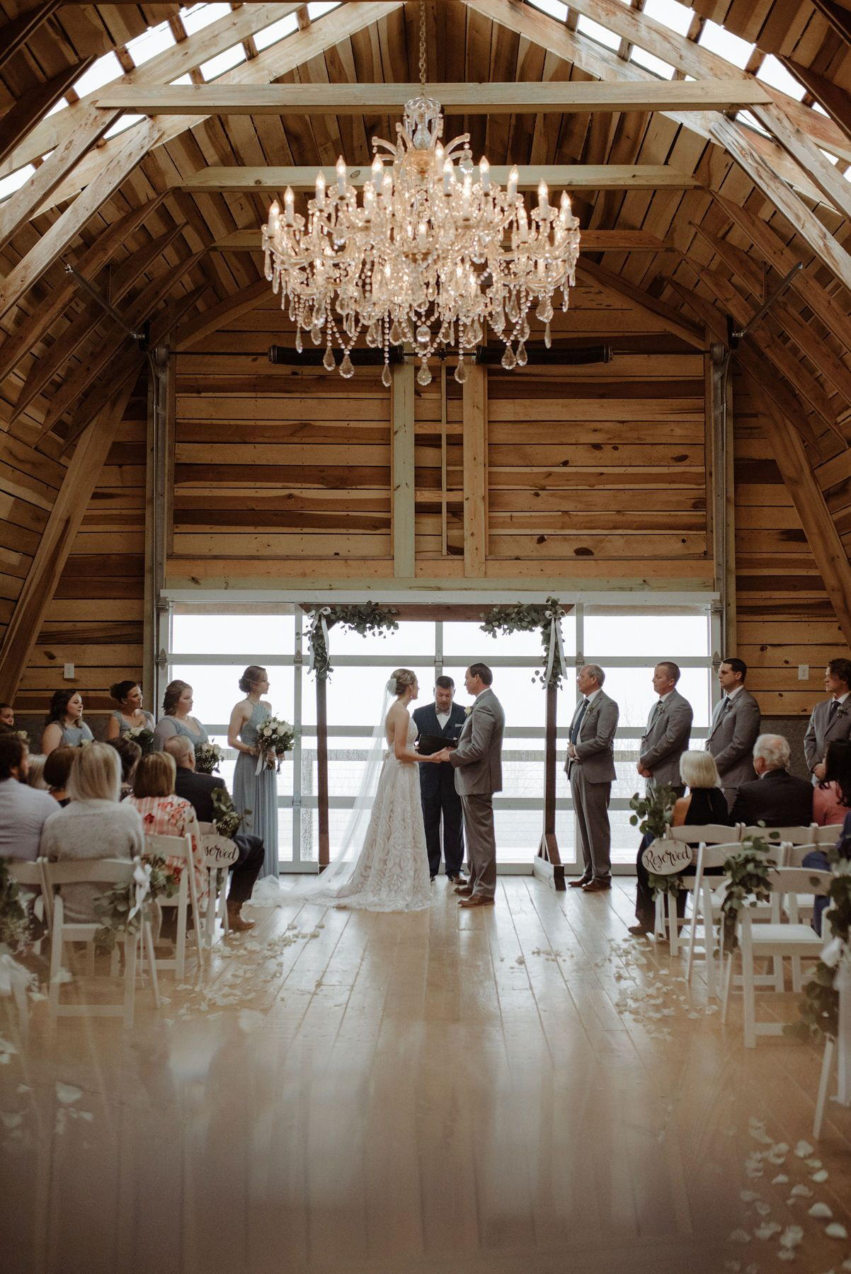 Cliffside Ceremony For 100 People Inside The Renovated Hay Barn At Overlook Barn In 2020 Upscale Weddings Barn Wedding Venue Wedding Venues In Nc