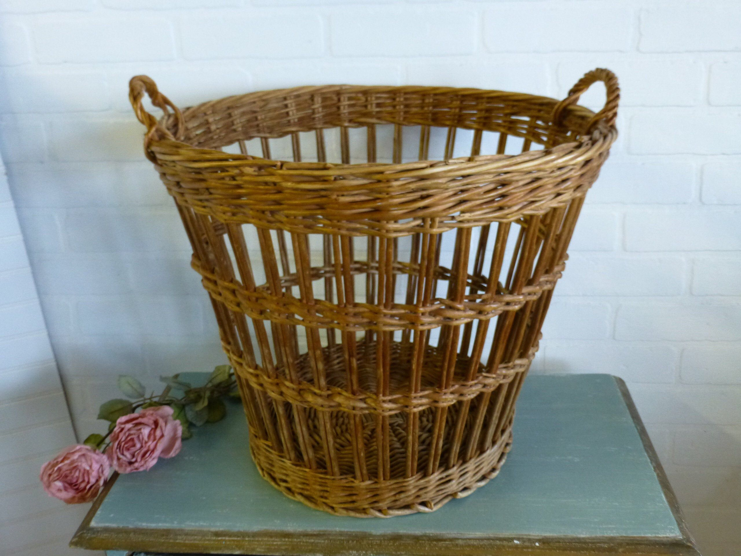 A Comprehensive Overview On Home Decoration Wicker Laundry Hamper French Farmhouse Decor Old Baskets