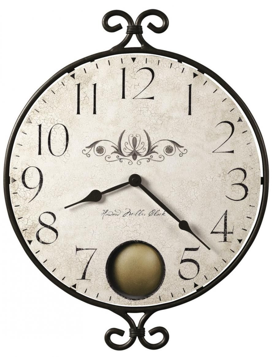 Found It At Clockway Com 17 3 X2f 4in Howard Miller Quartz Round Wall Clock Chm2362 With Images Howard Miller Wall Clock Wall Clock Distressed Wall Clock