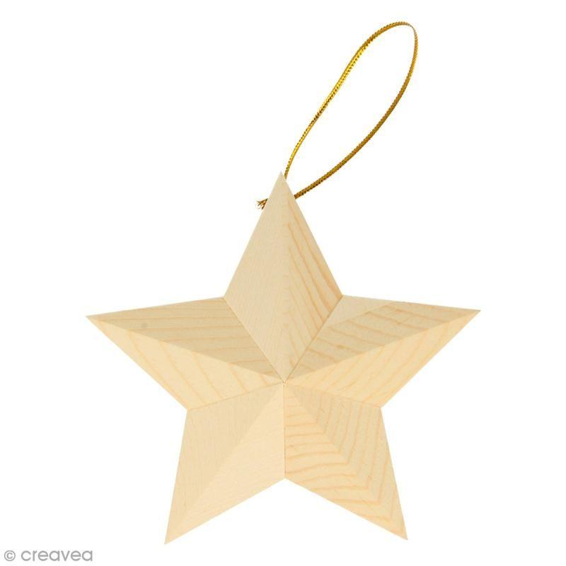 Forma De Madera Para Decorar Estrella Con Laditos 2 Uds
