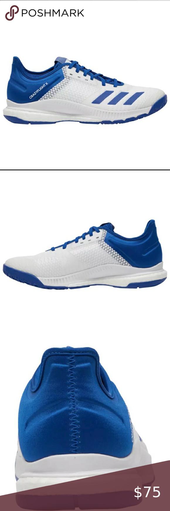 Nwt Adidas Crazyflight X 3 Volleyball Shoe Women S Nwt Adidas Crazyflight X 3 Volleyball Shoe Women S Blue White Size In 2020 Volleyball Shoes Women Shoes Adidas Shoes