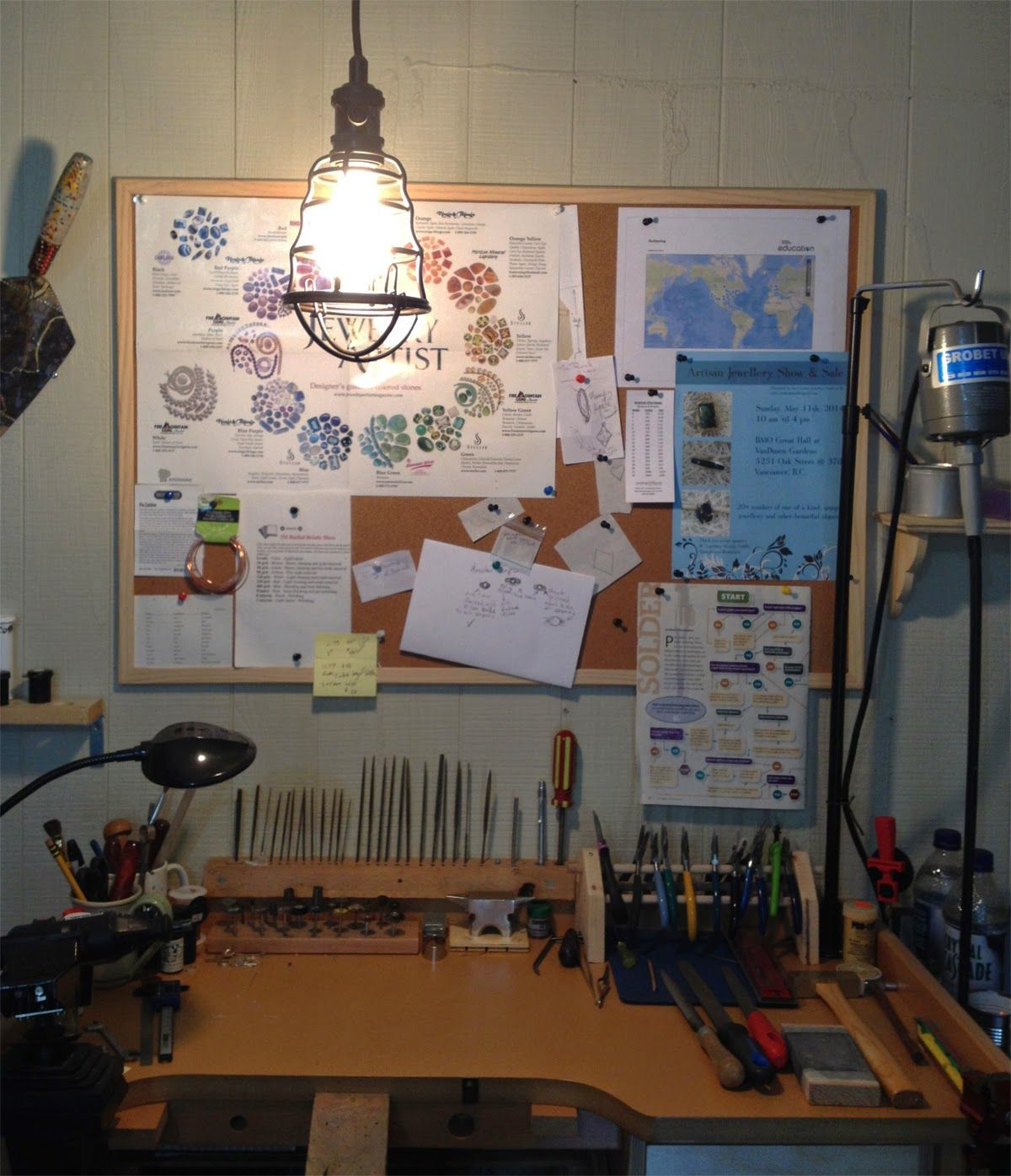 DixSterlingDesigns - new light for my bench - the better to work by, my dear.