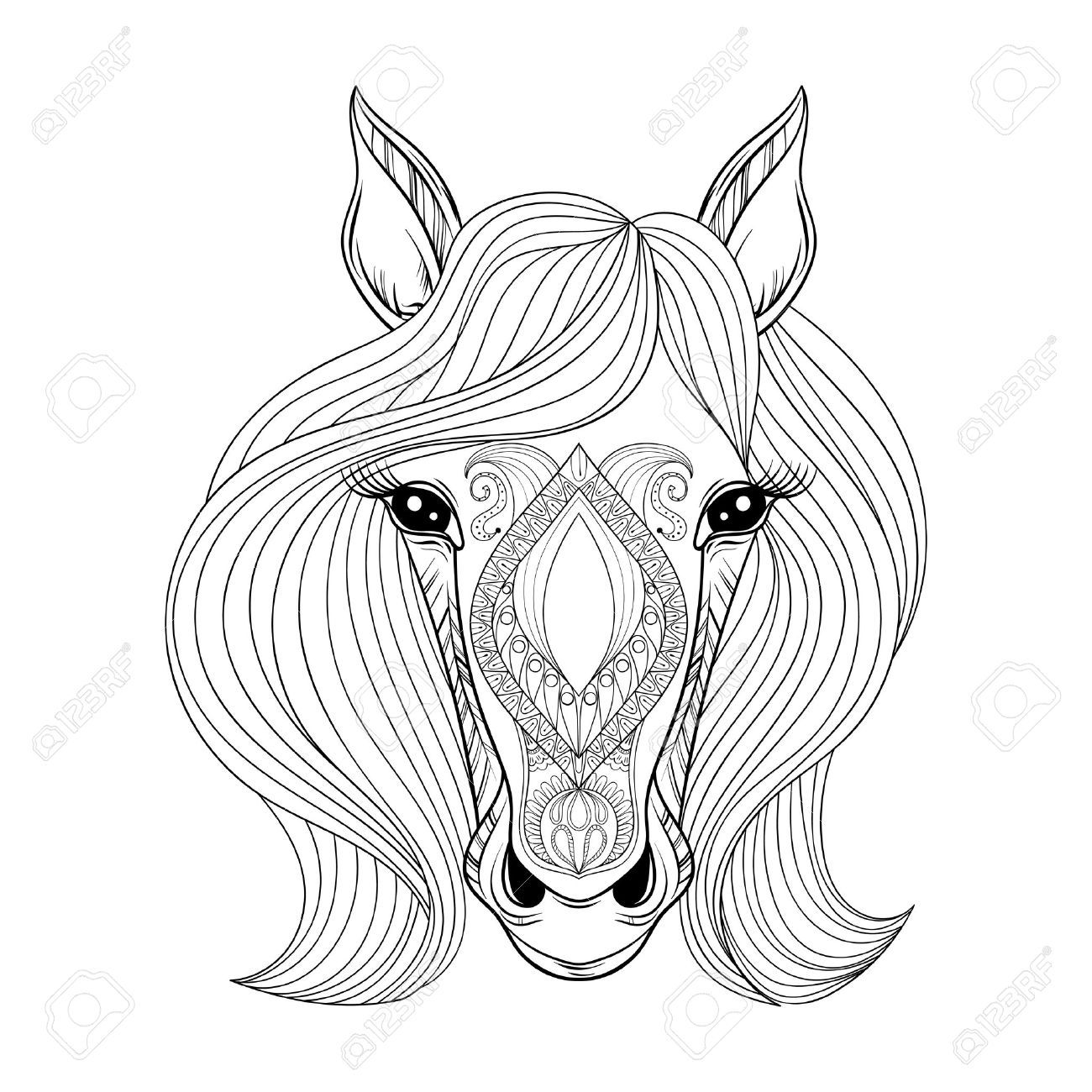 Related Image Horse Face Horse Face Drawing Coloring Pages [ 1300 x 1300 Pixel ]