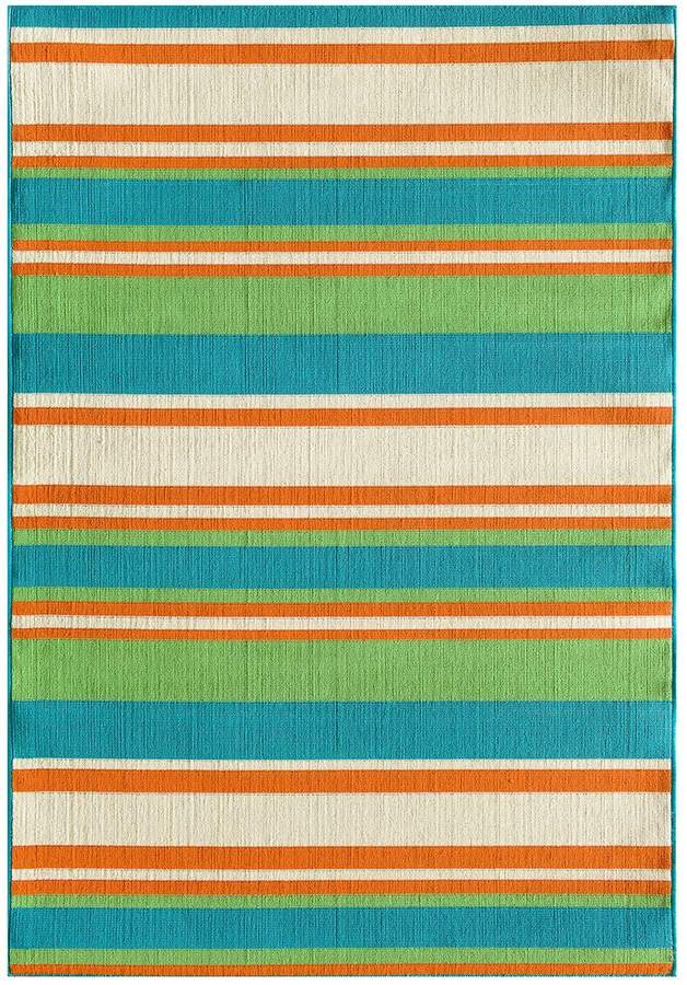 Blue Area Natco Tributary Allison Stripe Indoor Outdoor Rug In 2018
