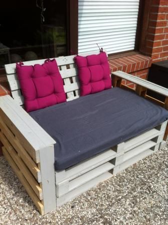 holz beton bank obi outdoor m bel pinterest paletten b nke b nke und diy ideen. Black Bedroom Furniture Sets. Home Design Ideas