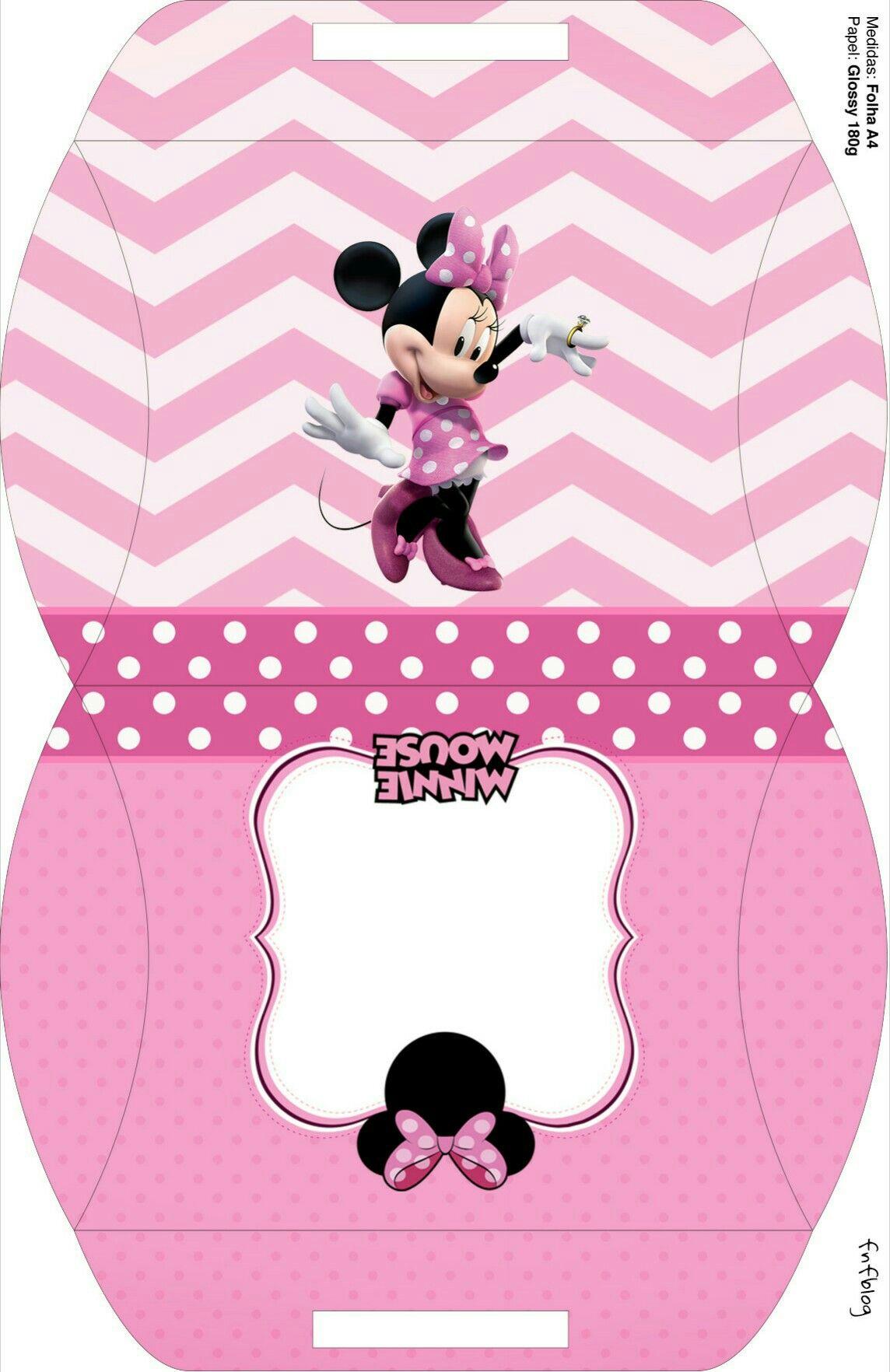 Caja almohada Minnie en Rosa. | Clipart | Pinterest | Minnie, Cajas ...