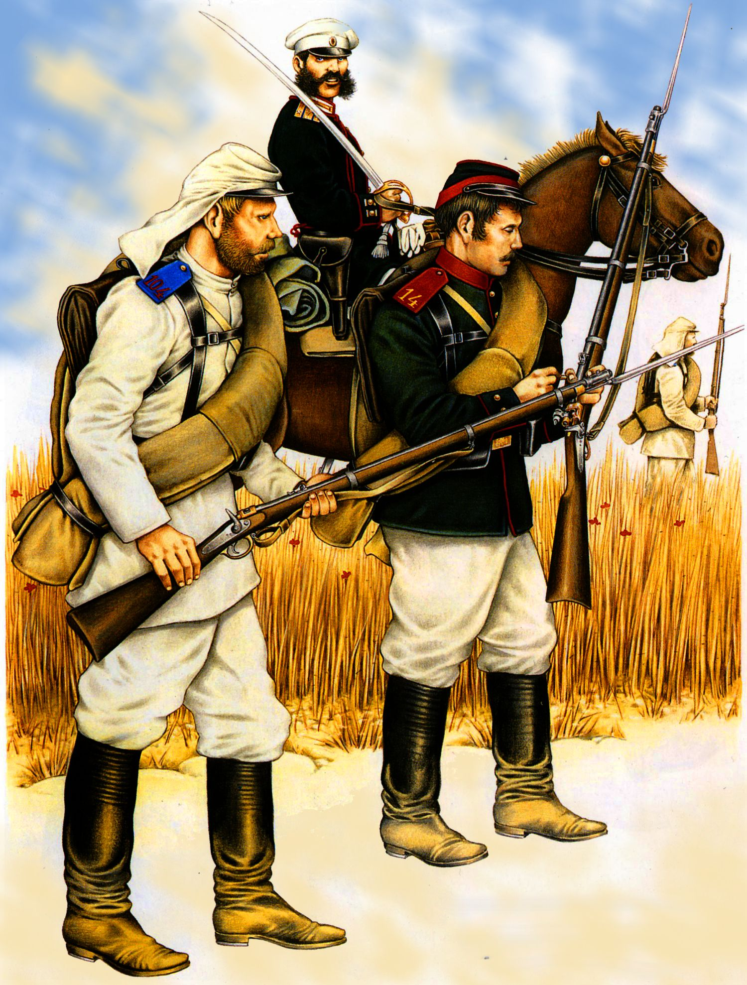 Russian line infantry during The Russo-Turkish War 1877 | Indians
