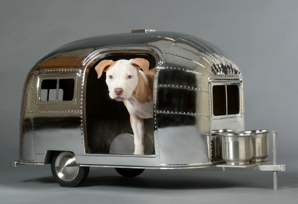 Airstream Styled Dog House Vintage Camper Airstream Camper Dog
