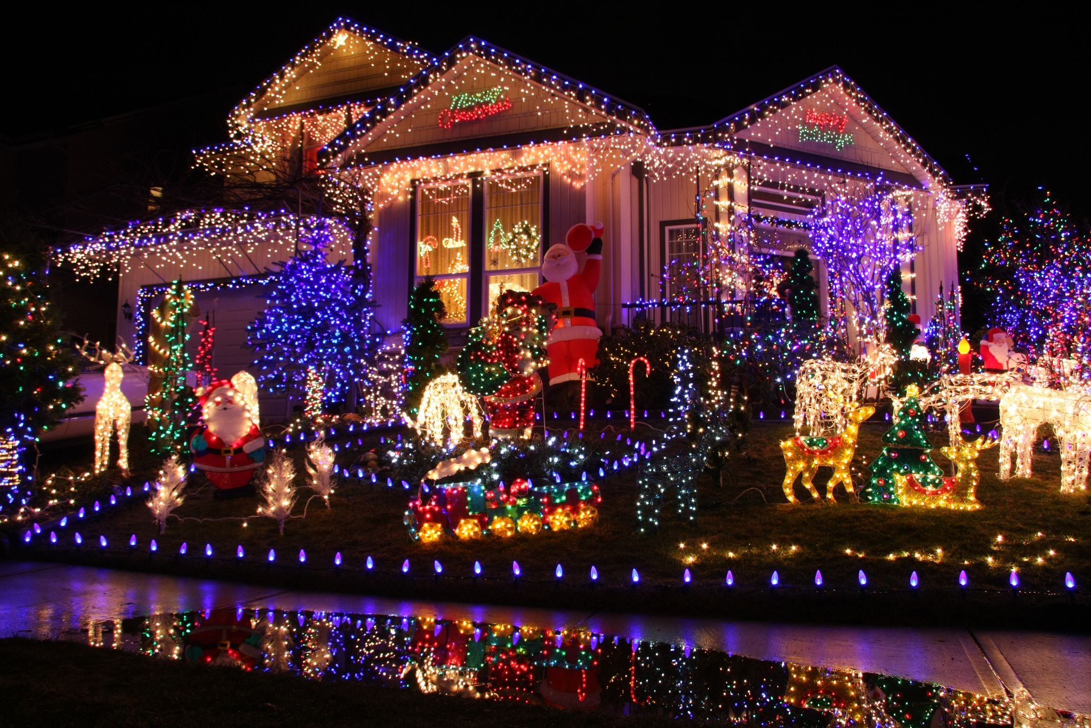 Stunning Design Christmas Lights In The House With Christmas Lights  Decorations Are Laid Out Very Nice