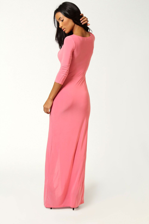 Petite Candice Side Split Slinky Maxi Dress