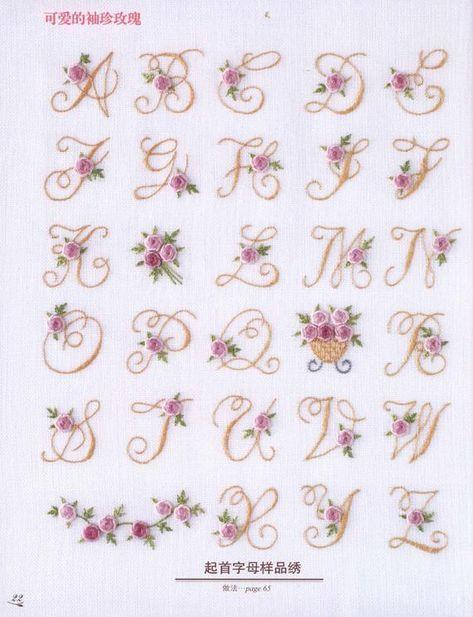 Arianna Monogram Font 刺繍 図案 刺繍 図案 アルファベット モノグラムフォント