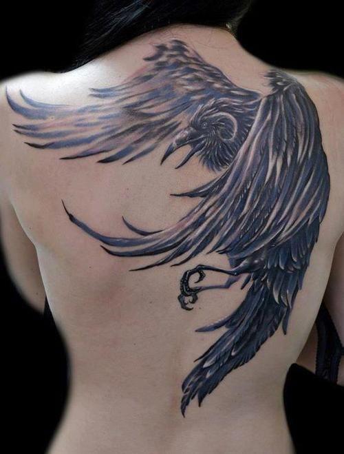 4ac155b95 Dramatic Raven Tattoo | Tattoo inspiration | Tattoos, Raven tattoo ...