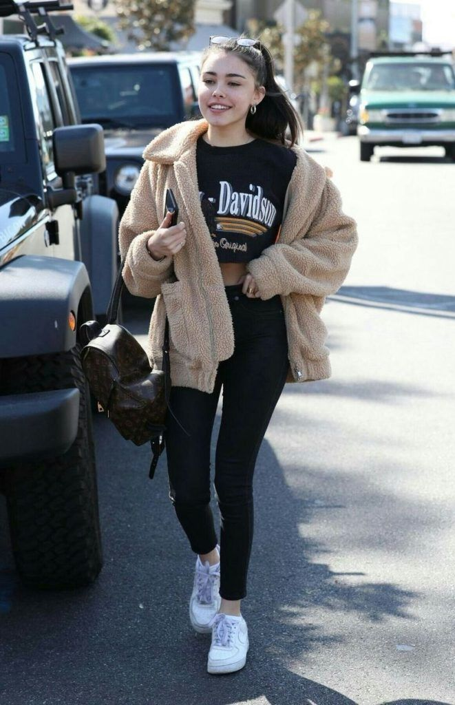Madison Beer Lunch at Mauro Cafe December 7, 2017   Sneakers