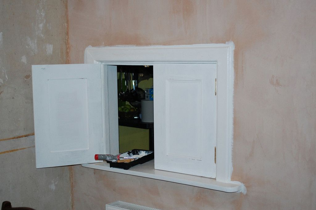 Serving Hatch Doors Made To Match The New Alcove Unit