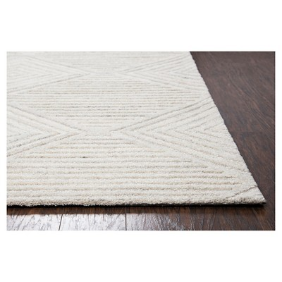 Geometric Solid Runner Ivory 2 6x8 Rizzy Home