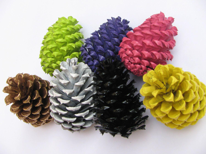 Woodland Shabby Chic pine cone, centerpiece, home decor ...