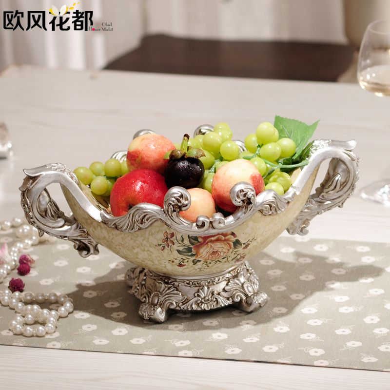 European Style Of The Ancient Large Fruit Plate Decoration Upscale